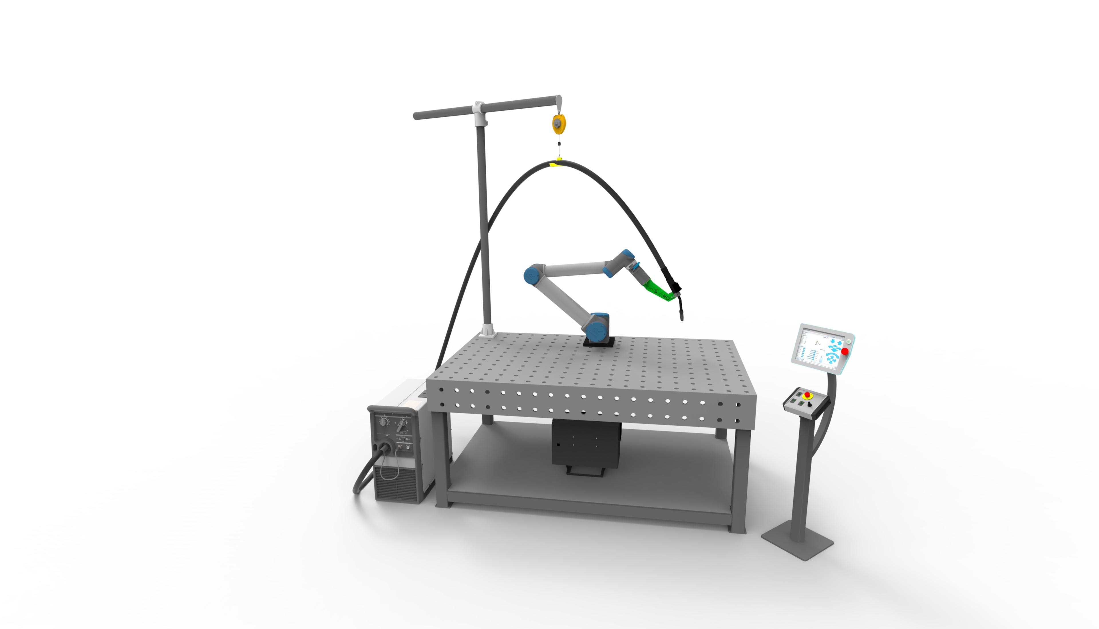 einfacher Schweissroboter, einfacher Aufbau, schnelle Installation, einfache Schweissanlage