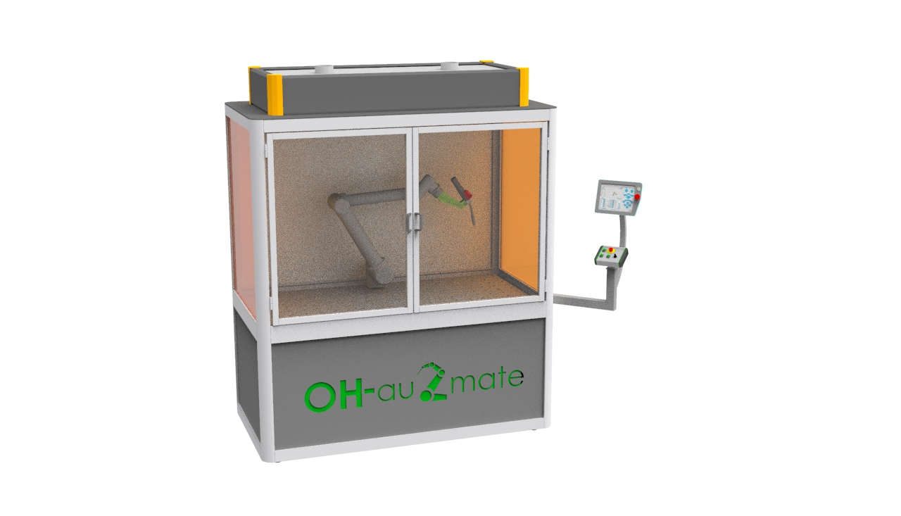 einfacher Schweissroboter, einfacher Aufbau, schnelle Installation, einfache Schweissanlage, UR Schweisszelle