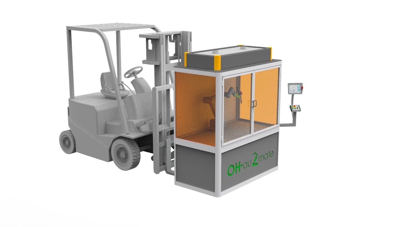 Schweißzelle Universal Robot Stapler einfacher Transport